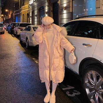 羽绒棉服厚中长款棉袄冬季时尚面包服韩版宽松棉衣