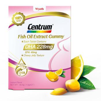 惠氏 善存(Centrum)DHA Gummy鱼油提取物软糖 善存DHA
