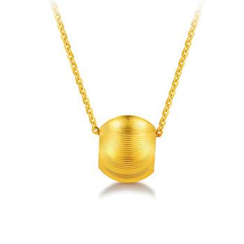 阿梵尼  黄金转运珠女3D硬金正品金珠吊坠可配项链