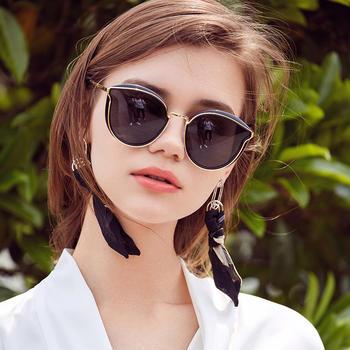 威古氏女士太阳镜高清偏光墨镜韩版猫眼防晒眼镜