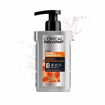 欧莱雅(LOREAL)男士劲能舒润液体洁面皂 150ml(洁面膏 深层清洁)