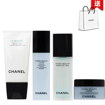 Chanel香奈儿山茶花护肤化妆品套装补水保湿 四件套装(干性肌肤)