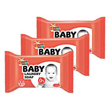 德露宝儿童婴儿洗衣皂无刺激洗衣皂150g *3块不伤手自然清香