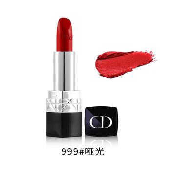 迪奥口红999(Dior)烈艳蓝金哑光滋润金属系列女士唇膏 888#正橘偏红