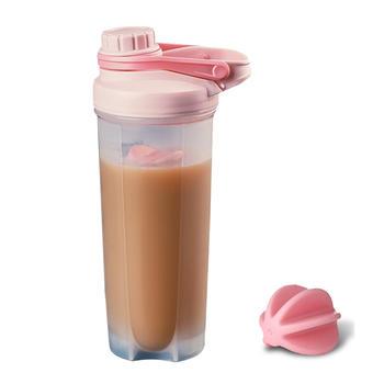 健身搅拌摇摇杯女奶昔水杯子蛋白粉运动便携带刻度水壶瑶瑶自动球