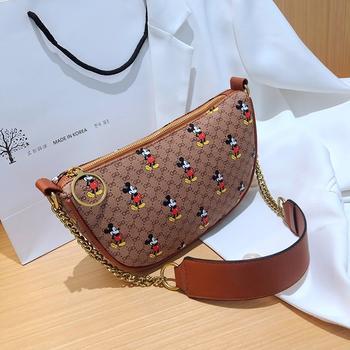 麦尔本夏季潮流新款米奇胸包小众洋气网红INS潮款百搭链条斜挎女包