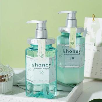 日本honey安蒂花子草本清爽植物精粹头皮护理洗发水护发素440ml+445g