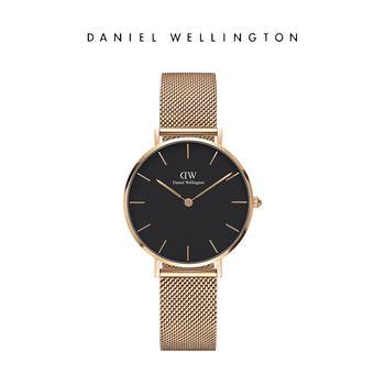 DW 时尚爆款玫瑰金钢带32mm女士手表