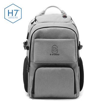 H7男士双肩电脑包USB充电包